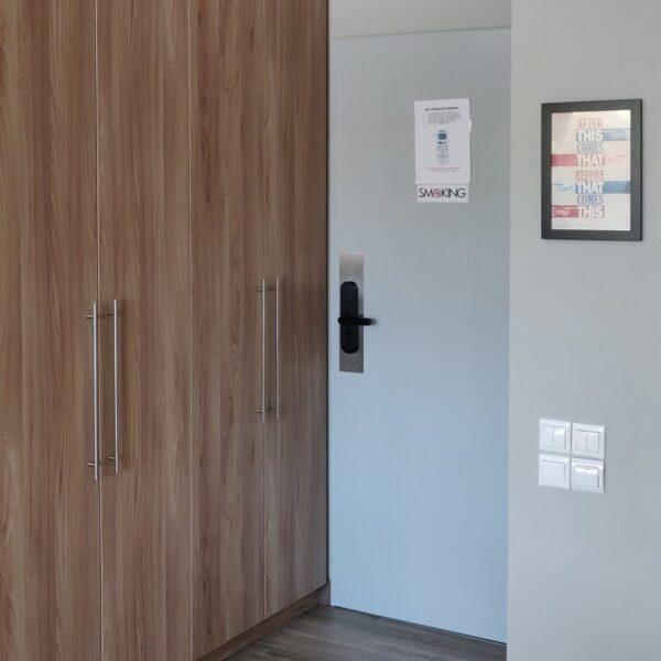 Suite 101 Entrance and wardrobe