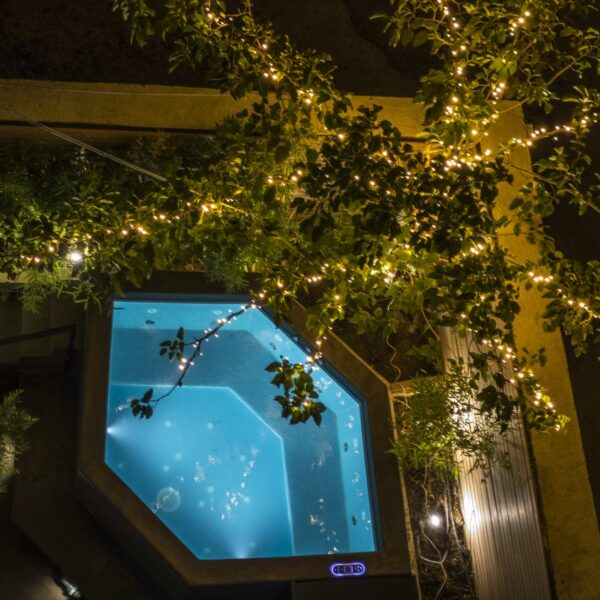 Garden Suite Hot Tub from above