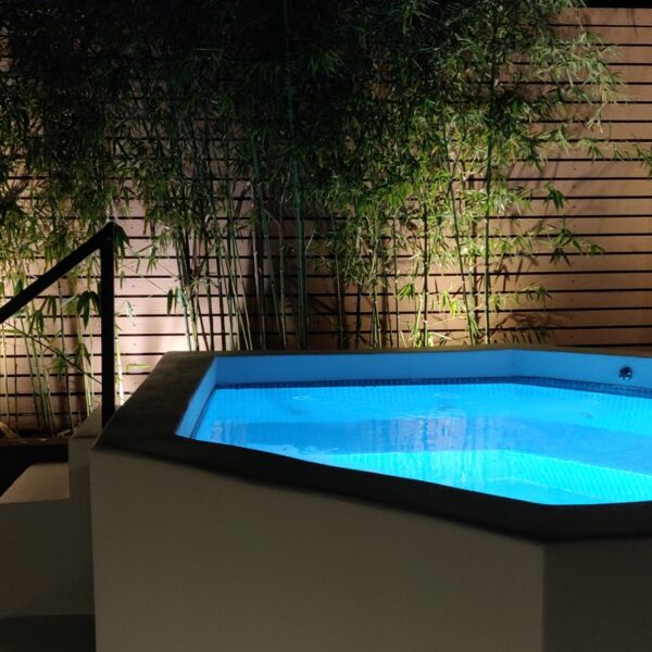 Garden Suite Hot tub details