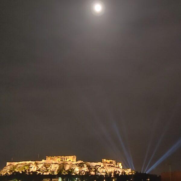 Penthouse Acropolis light show