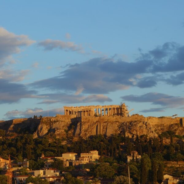 Penthouse Acropolis view in the morning