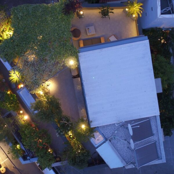 Penthouse view from above in the evening